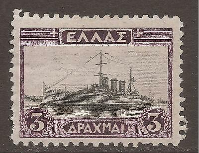 GREECE. 1927. 3d BLACK AND VIOLET. MOUNTED MINT.