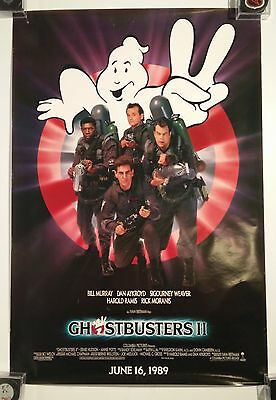 GhostBusters II Advance one sheet Original Theatre Movie Poster 27 x 40 rolled