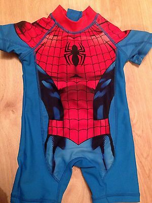 Spider-Man Swimming Costume, Boys, 9-12 Months, From NEXT