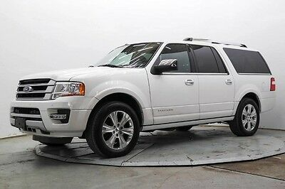 2015 Ford Expedition Platinum Sport Utility 4-Door EL Platinum Pwr 3rd Row Nav DVD Lthr Htd & AC Seats Pwr Roof & Boards Save