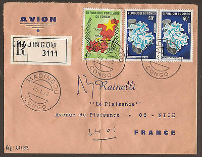 Congo. 1972. Registered Air Mail Cover. Madingou Postmark. Arrival On Reverse.