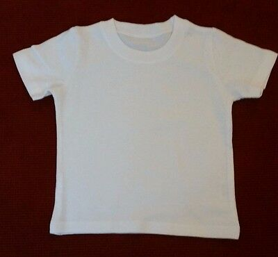 20 pack HIGH QUALITY Baby T-Shirt | Plain Infant Tee | White | Kids Size 1-2