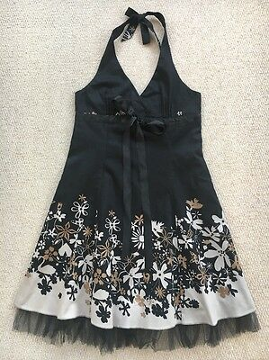 Women's Cotton Club Size 14 Black Cocktail Rock N Roll Party Dress