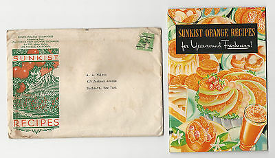 ADVERTISING COOKBOOK SUNKIST ORANGE RECIPES Los Angeles CA Fruit Growers booklet