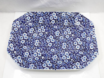 "Royal Crownford Blue Calico Staffordshire Platter Tray, 11 1/4"" x 8 5/8"""