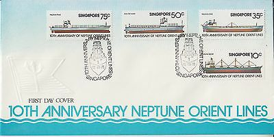 Singapore FDC 1978 Neptune Orient Lines