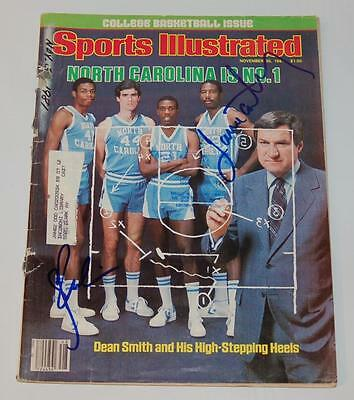 Sam Perkins & James Worthy Authentic Autographed 1981 Sports Illustrated Mag.