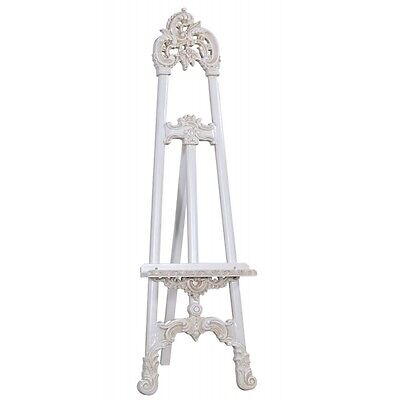 Vintage Shabby Chic Ornate Style Antique White Easel / Display - Wedding