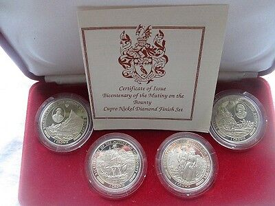 1989 Isle Of Man - Bicentenary Of The Mutiny On The Bounty - 4 Coin Set