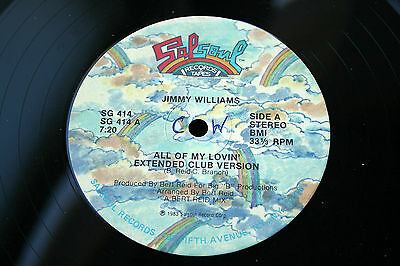 JIMMY WILLIAMS-All Of My Lovin'-/US '83 SALSOUL (SG 414) synth boogie-funk 12""