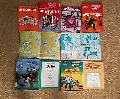 4 James Bond 007 Role Playing Game (RPG) (Victory Games 1980's)  REVISED PHOTOS