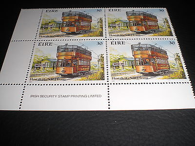1987 Four 30p Stamps - Trams - Howth Tram