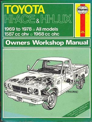 Toyota Hilux Pick Up,hiace Van,bus,chassis Cab Haynes Workshop Manual 1969-1978