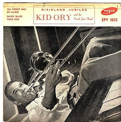 KID ORY AND HIS CREOLE JAZZ BAND    2 EP's