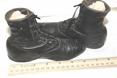Antique Victorian Childs Boots Shoes Black Girls. #3