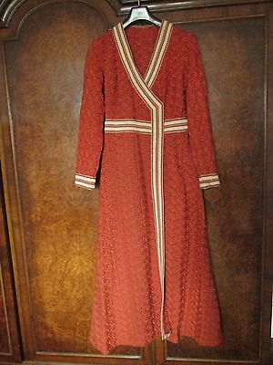 Vintage 1970's Brocade style Glam Dressing Gown Leisure Robe