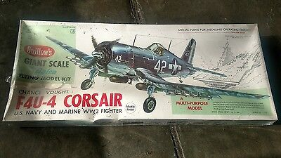 Guillow's Vought F4U-4 Corsair Flying Airplane Model Kit #1004 UNOPENED