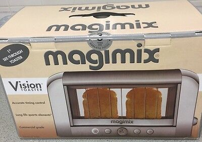 Magimix 11526 Brushed Stainless Steel Vision 2-Slice Commercial Grade Toaster