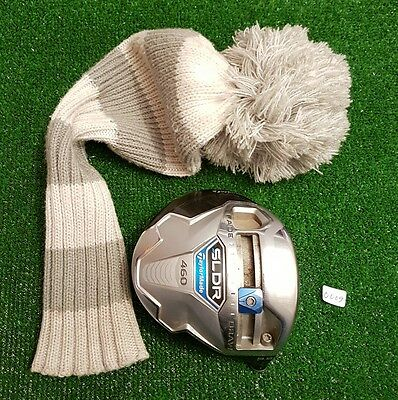 taylormade sldr 460 driver head and cover / 9.5 / serial number / vgc