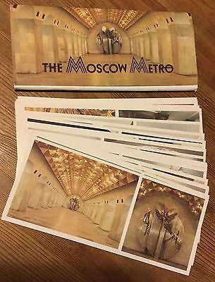 Moscow Metro Collectable Genuine 24 Postcard Set From Russia Soviet Architecture