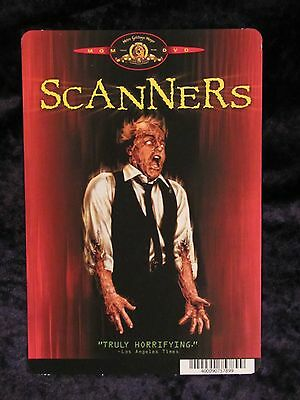 SCANNERS movie backer card DAVID CRONENBERG (this is NOT a movie)