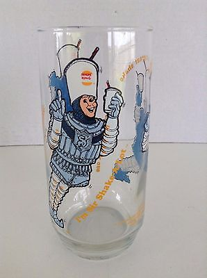 Burger King Glass 1979 Sir Shakes A Lot promotional Glass Cup Collectors Series