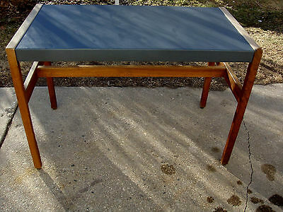 WI TO NY SHIPPING Vintage Console Table Office Medical Side Solid Wood Knoll Era