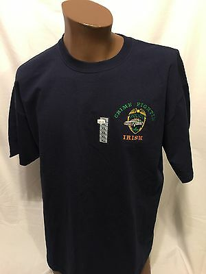 Police CRIME FIGHTIN IRISH Embroidered XL tshirt Law St. Patrick's Day New NWT