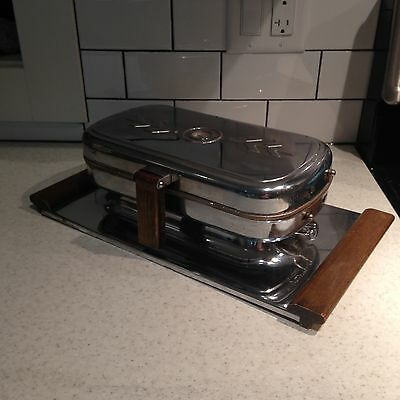 Vintage Standard Appliance Waffle Iron Chrome Reversible Grill Maker