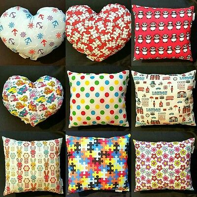 Nursery Cushion Pillow Animal Flower Dot Print Baby Girl Boy Infant Toy Cot Bed