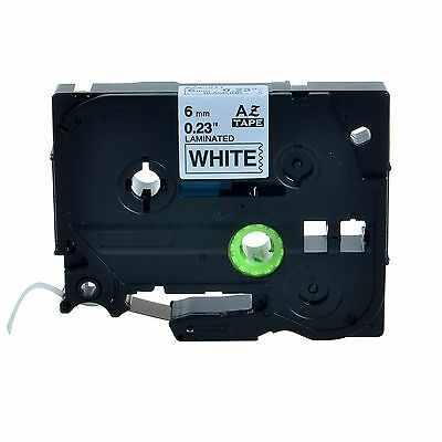 """20PK TZ211 TZe211 Black on White Label Tape For Brother P-touch PT-D200 6mm 1/4"""""""