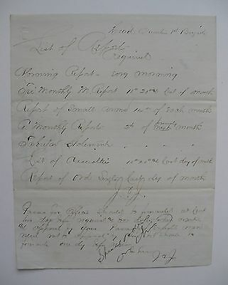 Civil War Letter Headquarters 1St Brigade List Of Report Requirements
