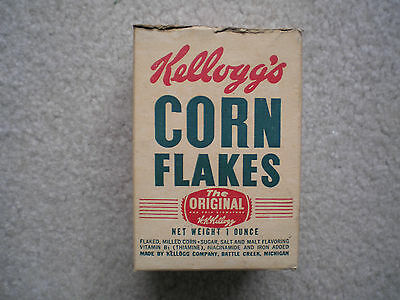Kellogg's Corn Flakes Sample Size Cereal Box 1947 Railroad Cut-Out
