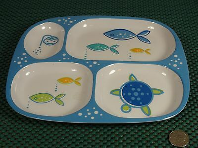 Baby Divided Plate Aquatics Fish Turtle  Diet Portion Plate Child NWT