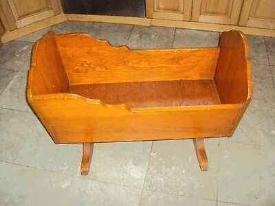 vintage wooden cradle baby infant 60's 1960's handmade local pick up NJ 07701