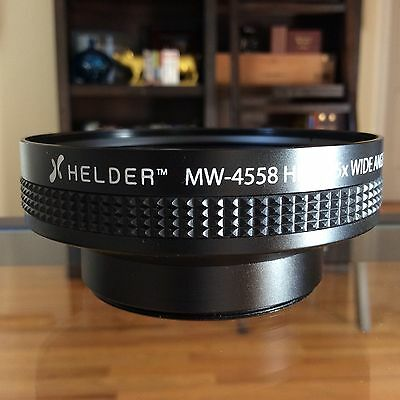Helder MW-4558 58mm HD 0.45x Wide Angle Conversion Lens w/ Detachable Macro Lens
