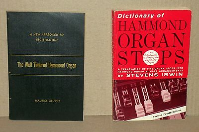 The Well Timbred Hammond Organ, and Dictionary of Hammond Organ Stops (2 Books)