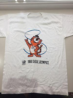 Seoul 1988 Olympics Mascot T Shirt Vintage Collectable original