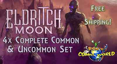 MTG - Eldritch Moon - Complete Common & Uncommon x4 Set with Tokens