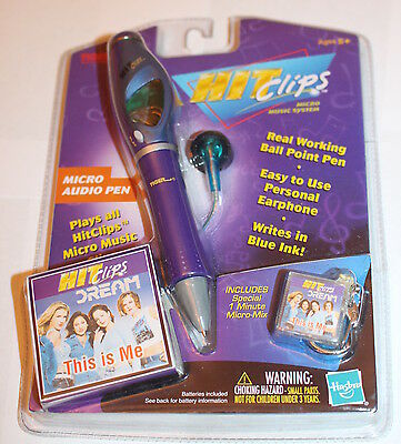 HIt Clips Micro Music Player Pen Sealed Tiger Electronics 2001 Dream this is Me