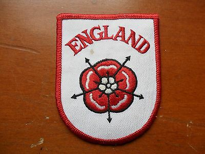England Embroidered Rose Souvenir Woven Cloth Badge #