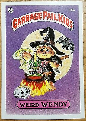 Weird Wendy 16a ~ Garbage Pail Kids UK Series 1 (1985) Grade 9 Mint Condition