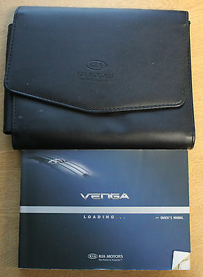 Kia Venga Owners Manual Handbook Wallet 2009-2017 Pack 13258