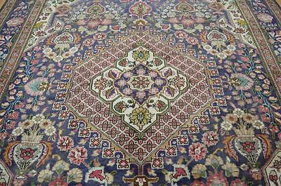 8'5x11'8 Amazing 1920s Genuine Antique Persian Vase Tabriz Hand Knotted Wool Rug