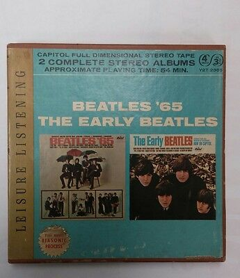 The Beatles double play 4 track reel to reel tape 3 3/4 IPS ex play tested cond
