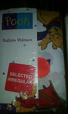 Winnie The Pooh Balloon Valance Blustery  Day NEW