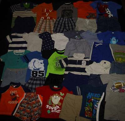 HUGE Baby Boy 18-24 months 2T Spring Summer Clothes Lot Gap Old Navy Carters #2