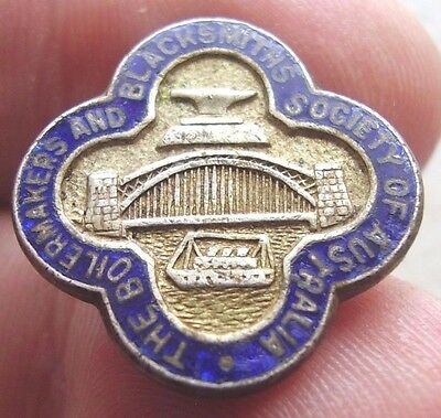 Vintage Boilermakers & Blacksmiths Society of Australia Member Badge Union Luke