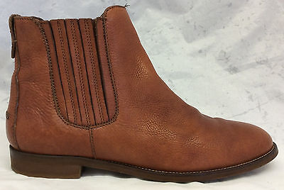 Madewell Size 10 US Women's Brown Leather Round Toe Pull On Ankle Chelsea Boots