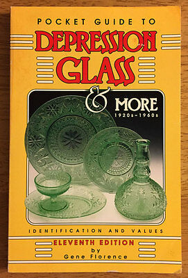 POCKET GUIDE TO DEPRESSION GLASS & More 1920's-1960's by Gene Florence 11th Edit